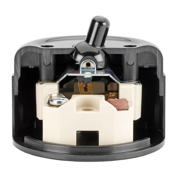 kippschalter aufputzmontage duroplast wei von replicata wechselschalter replikate. Black Bedroom Furniture Sets. Home Design Ideas