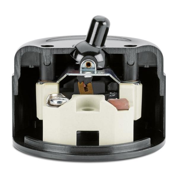schaltersysteme aufputz bakelit schwarz von replicata. Black Bedroom Furniture Sets. Home Design Ideas